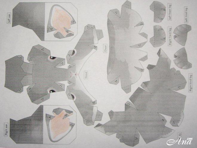 Заяц из бумаги своими руками по деталям 32