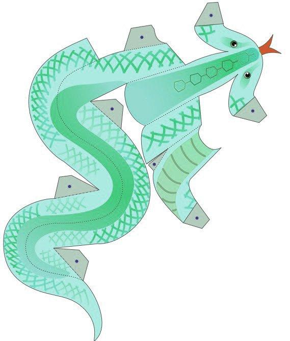 Воздушные змеи из бумаги шаблоны